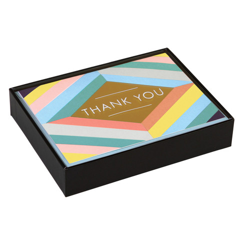 Lux Thank You Note Card Geo Pastel  | Organiser World