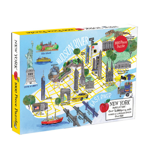 Puzzle 1000 New York City Map  | Organiser World
