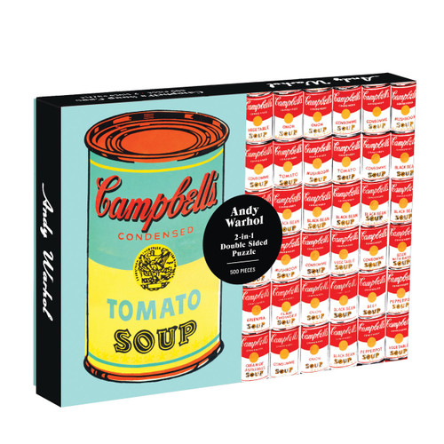 Puzzle 500 [Double Sided] Andy Warhol Soup Can  | Organiser World
