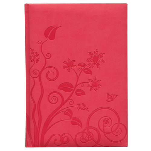 Organic Flowers Large Notebook Coral  | Organiser World