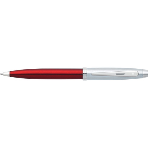 100 Red/Chrome/Nickel Plated Ballpoint Pen (Self-Serve Packaging)