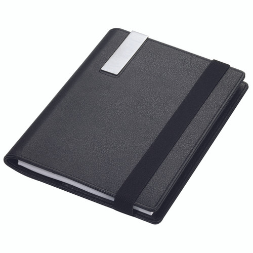 Travel Folder with A5 Notepad Black