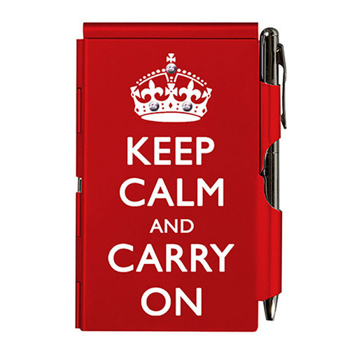 Flip Notes® KEEP CALM with Ballpoint Pen Red