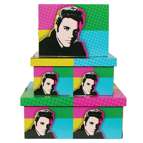 Pop Art Boxes 3pc Set - Elvis Presley
