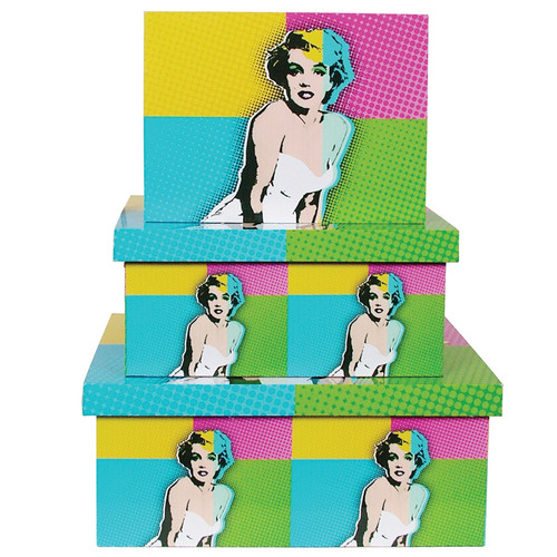 Pop Art Boxes 3pc Set - Marilyn Monroe