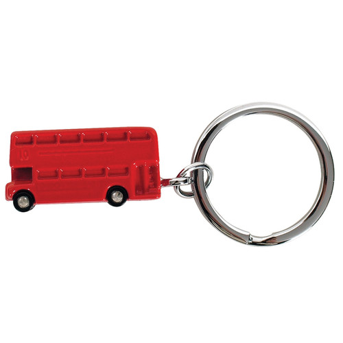 Red Double Decker Bus Keyring