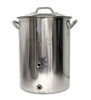 """Brewer""""s Basic 8 Gal Pot - welded ports"""