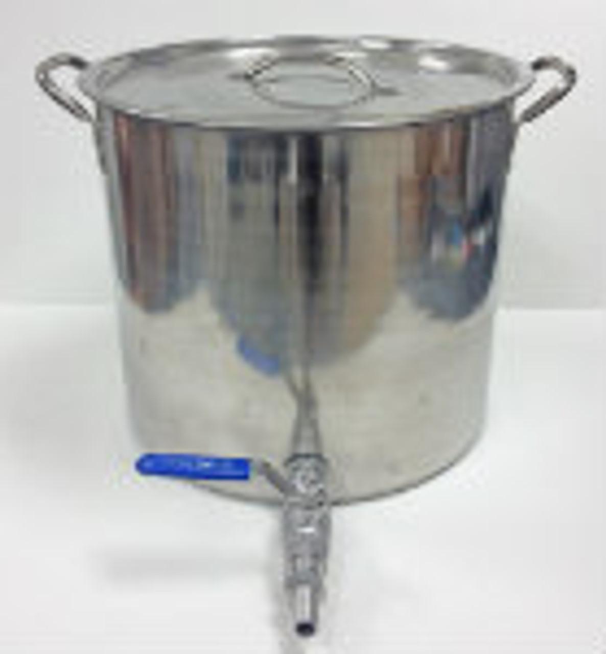 5 Gallon Stainless Steel Stock Pot With Weldless Ball Valve