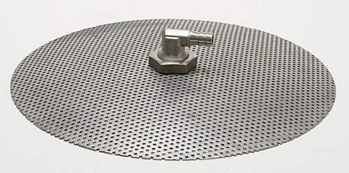 """Complete 9"""" Stainless Steel False Bottom with Weldless Valve"""
