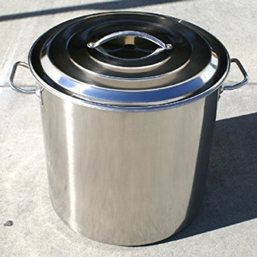 Stainless Steel Stock Pot Kettle, 60-Quart, 15 Gallon  COSMETIC DAMAGED