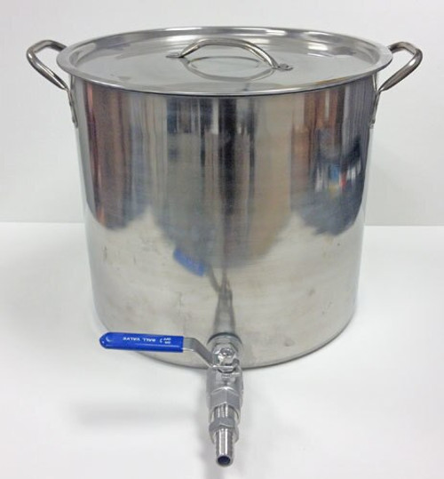 8 Gallon Stainless Steel Kettle with Weldless Valve