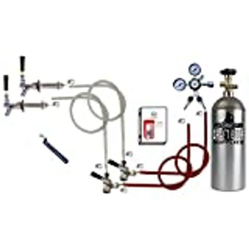 Double Faucet Door Mount Kegerator Keg Tap Conversion Kit