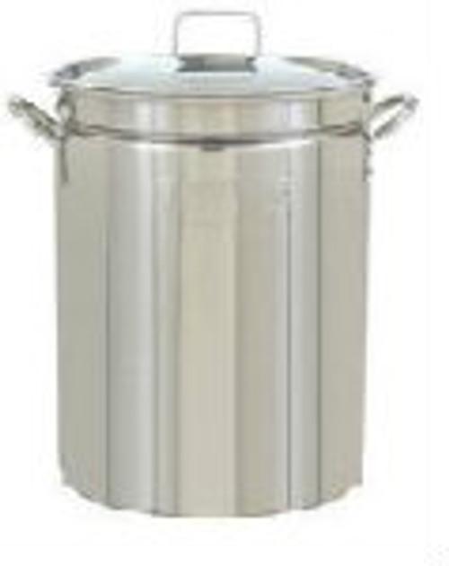 15 Gallon 60qt Stainless Steel Stock Pot with Weldless Ball Valve