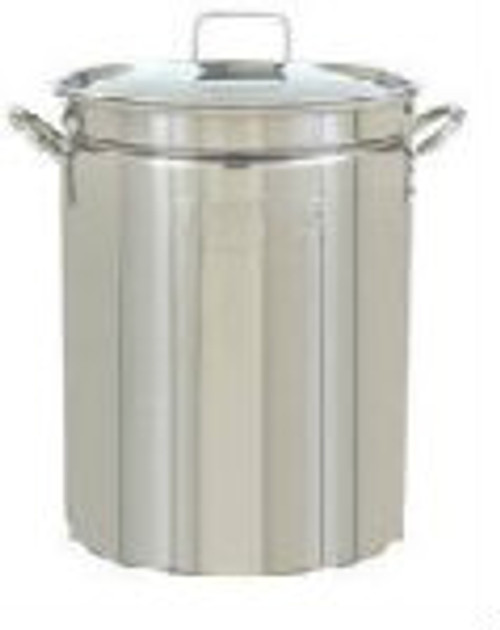 15 Gallon 60qt Stainless Steel Stock Pot with Weldless Ball Valve