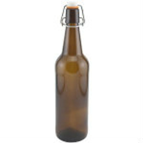 Flip Top Bottles Amber, 500 ml. --- Case/12