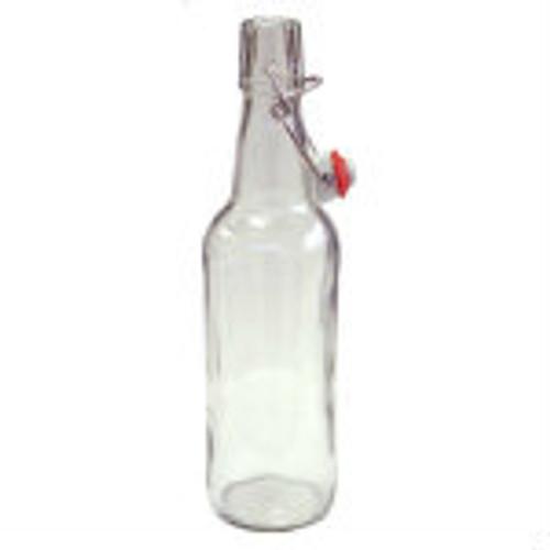 Flip Top Bottles Clear, 500 ml. --- Case/12