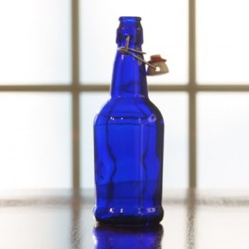 Flip Top Bottles Cobalt Blue, 500 ml. --- Case/12