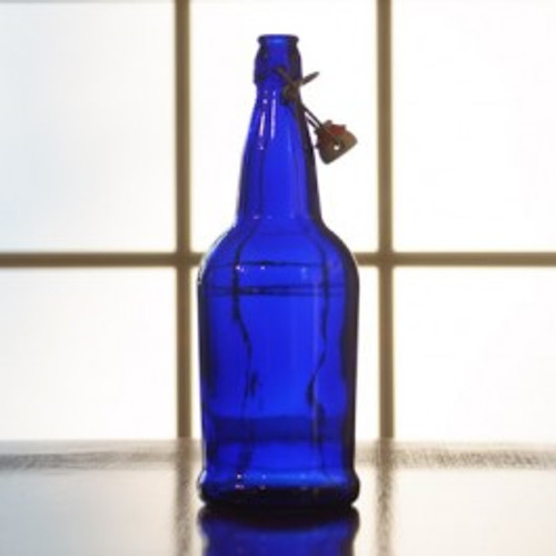 Flip Top Bottles Cobalt Blue, 1 Liter --- Case/12