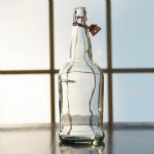 Flip Top Bottles Clear, 1 Liter --- Case/12