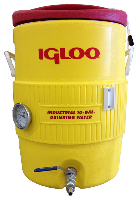 10 Gallon Igloo Mash Tun with Thermometer
