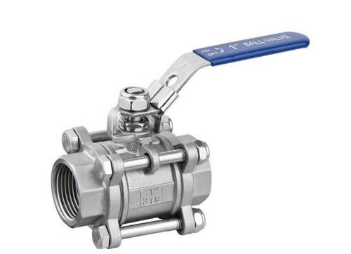 "1/2"" 3-Piece Stainless Steel Ball Valve"