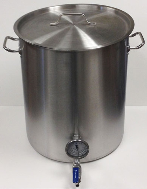 15 Gallon Kettle wit Welded Valve and Thermometer