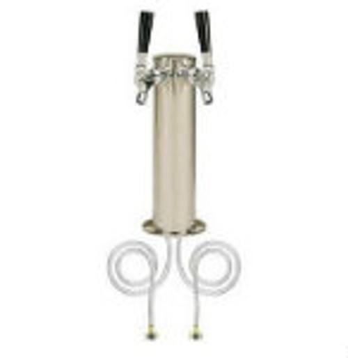 Stainless Steel Two Tap Beer Tower