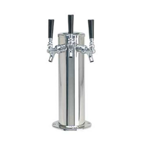 Draft Beer Tower - 3 Faucets - Stainless Steel