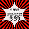 2 CDs FOR ONLY $20 - CHOOSE ONE CD FROM EACH LIST BELOW