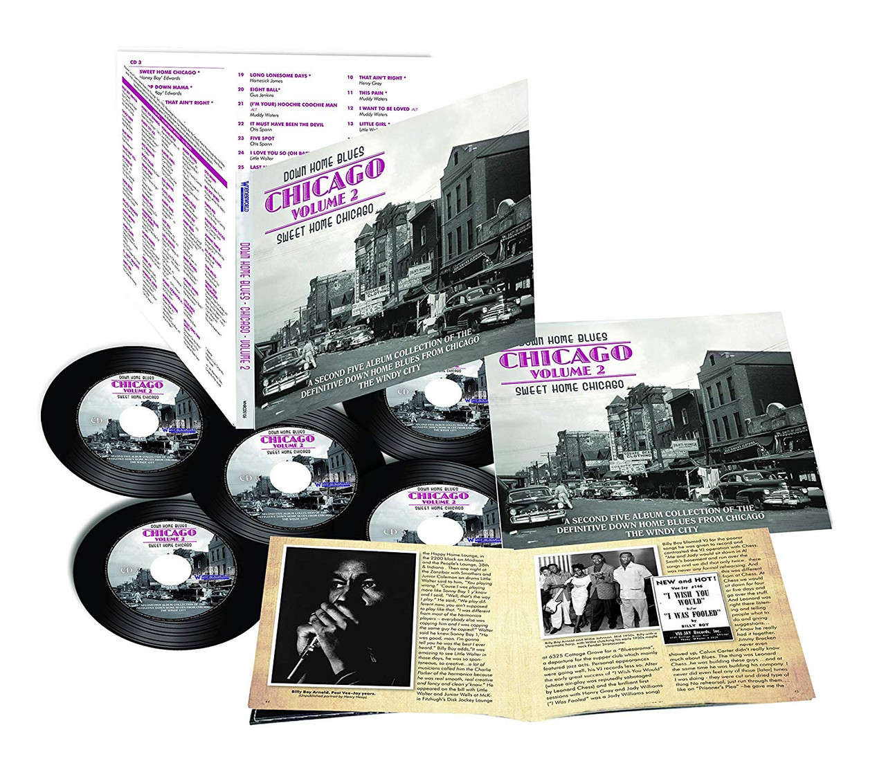 Down Home Blues: Sweet Home Chicago Vol 2 - 5 CD Set  94 PAGE BOOK