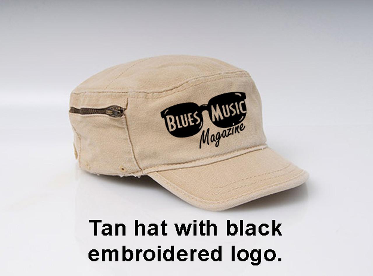 BLUES MUSIC MAGAZINE VINTAGE LOGO HAT TAN