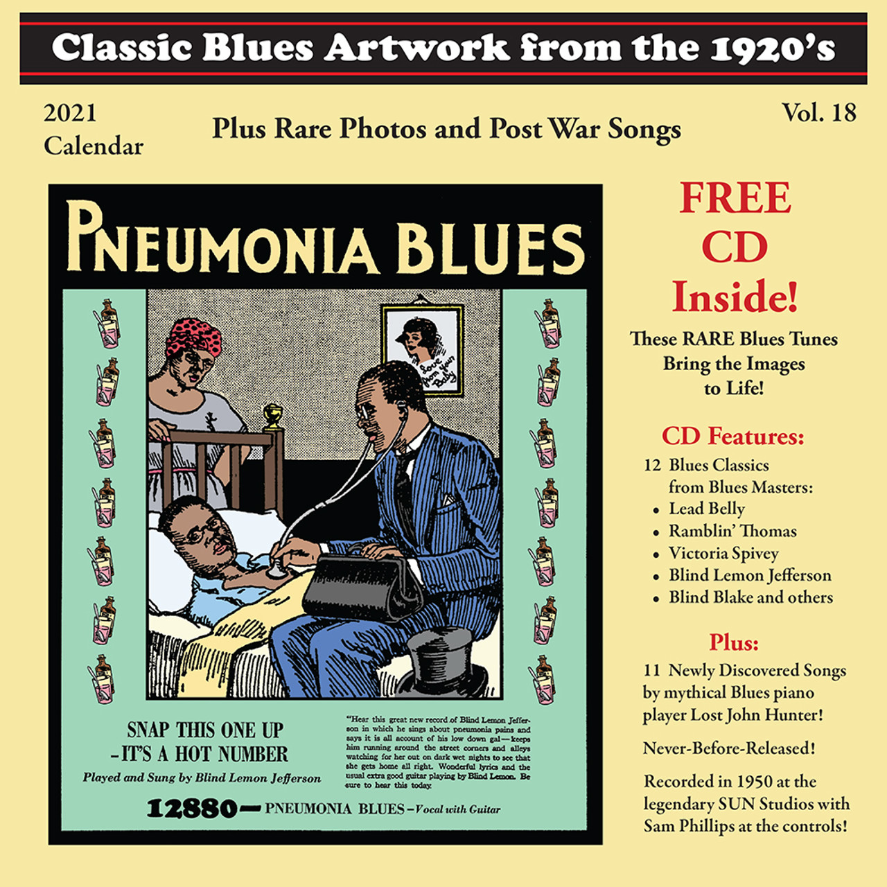 4 Issues Plus Classic Blues Artwork 1920's Calendar and 23 Song CD