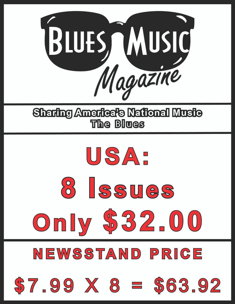 USA SUBSCRIBE OR RENEW FOR 8 ISSUES = 2 YEARS