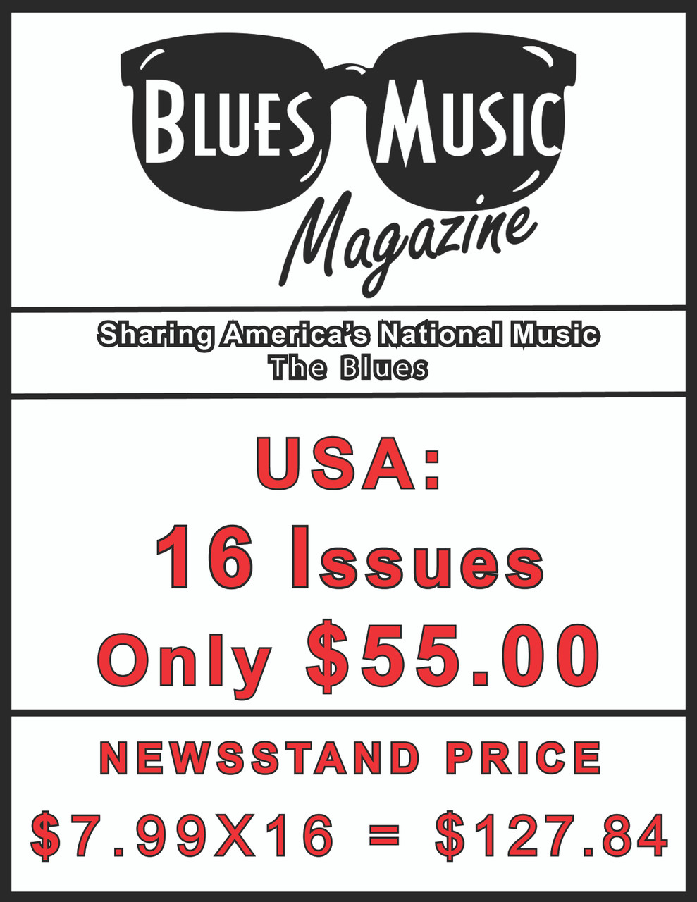 USA SUBSCRIBE OR RENEW FOR 16 ISSUES = 4 YEARS