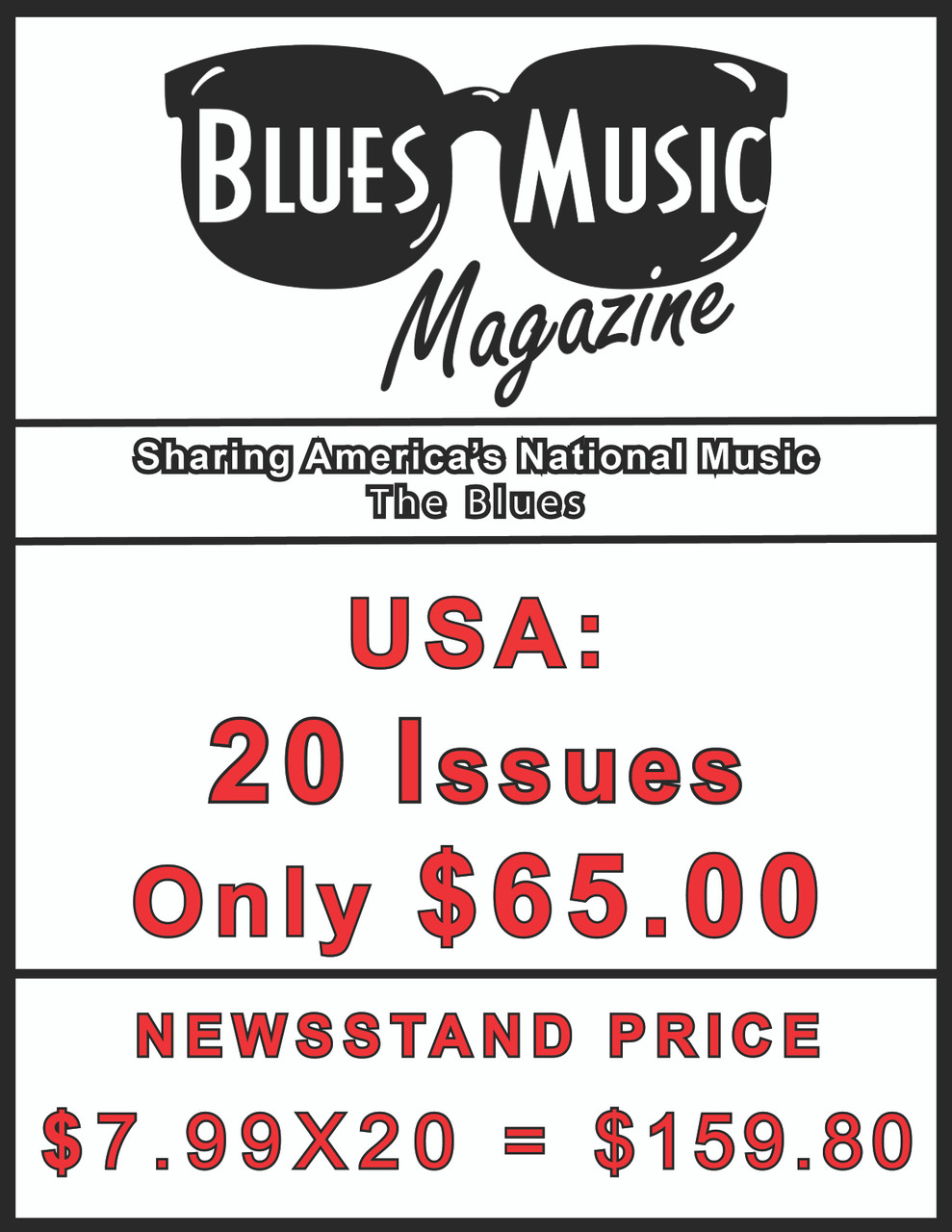 USA SUBSCRIBE OR RENEW FOR 20 ISSUES = 5 YEARS