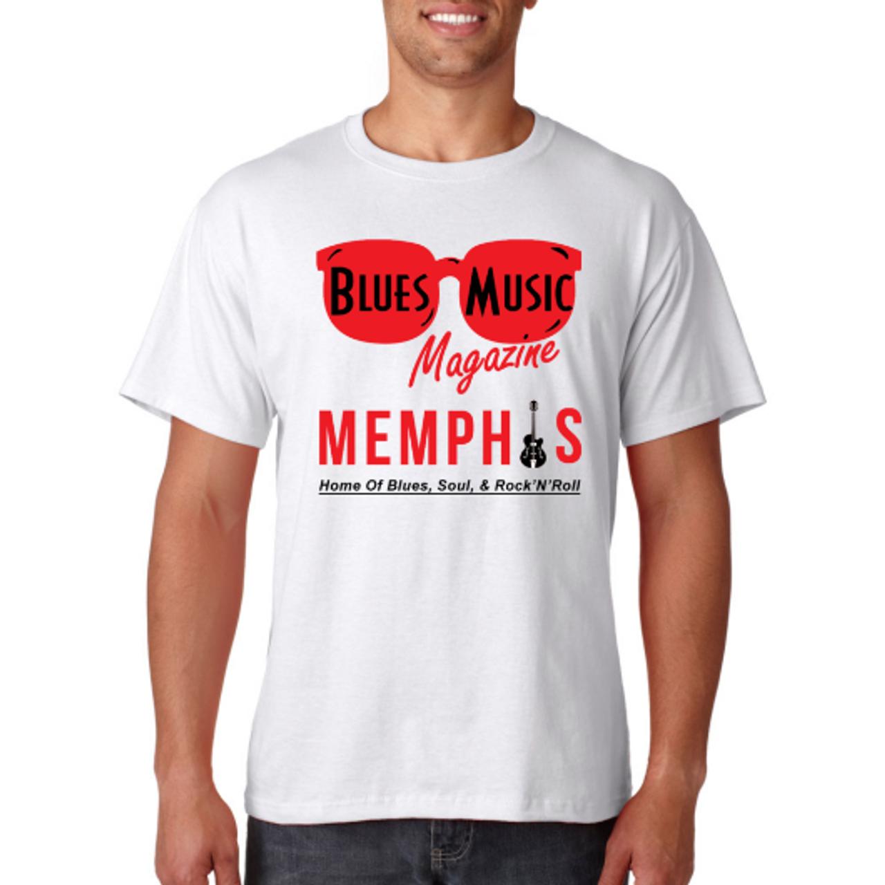 BLUES MUSIC MAGAZINE MEMPHIS LOGO SHIRT
