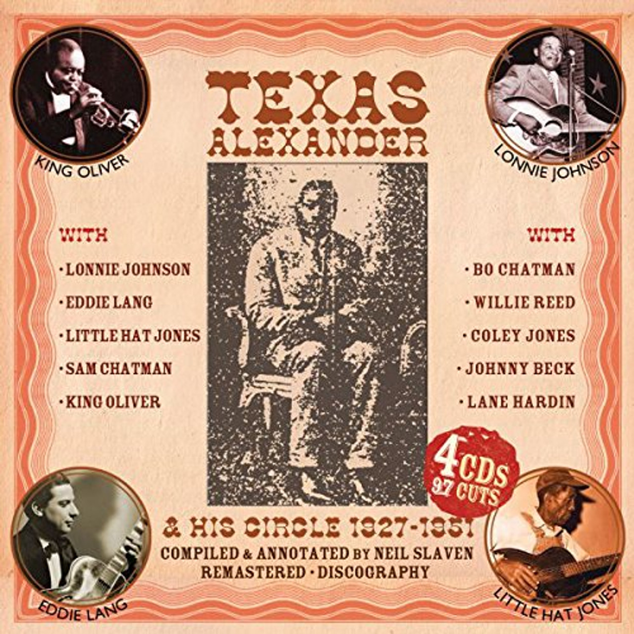 USA ONLY: Texas Alexander & His Circle 1927-1951: Authentic Early Texas Country Blues- 4 CD BOX SET  PLUS 8 ISSUES AND FREE SHIPPING