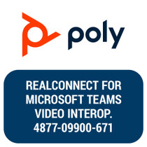 Poly RealConnect for Microsoft Teams, 1-yr Video Interop Concurrent Subscription for 1 Unit