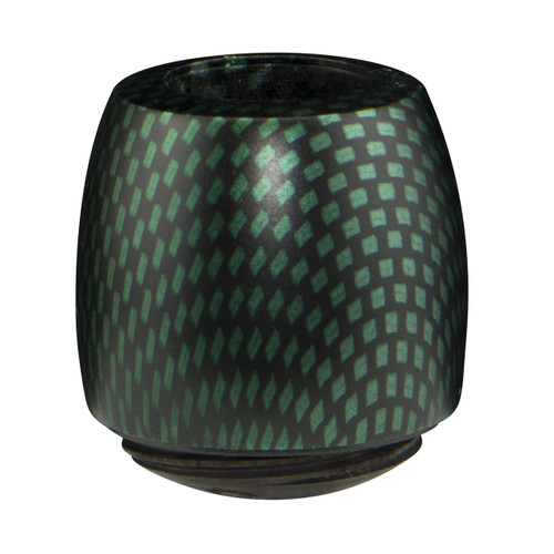 Billiard Bowl with a Green Carbon Finish
