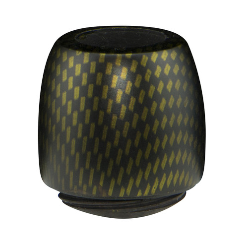 Billiard Bowl with a Yellow Carbon Finish