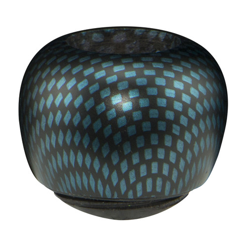 Apple Bowl with a Blue Carbon Finish