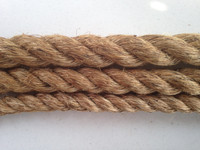 "Comparision of the different manila rope thicknesses - 1"", 1.25"" and 1.5""."