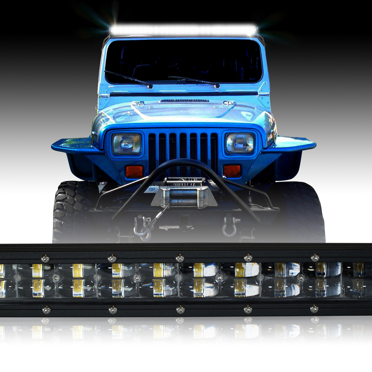 Jeep Yj Wiring 50 Inch Diagram Data 87 Led Light Bar 288w Inches Bracket Harness Kit For Wrangler