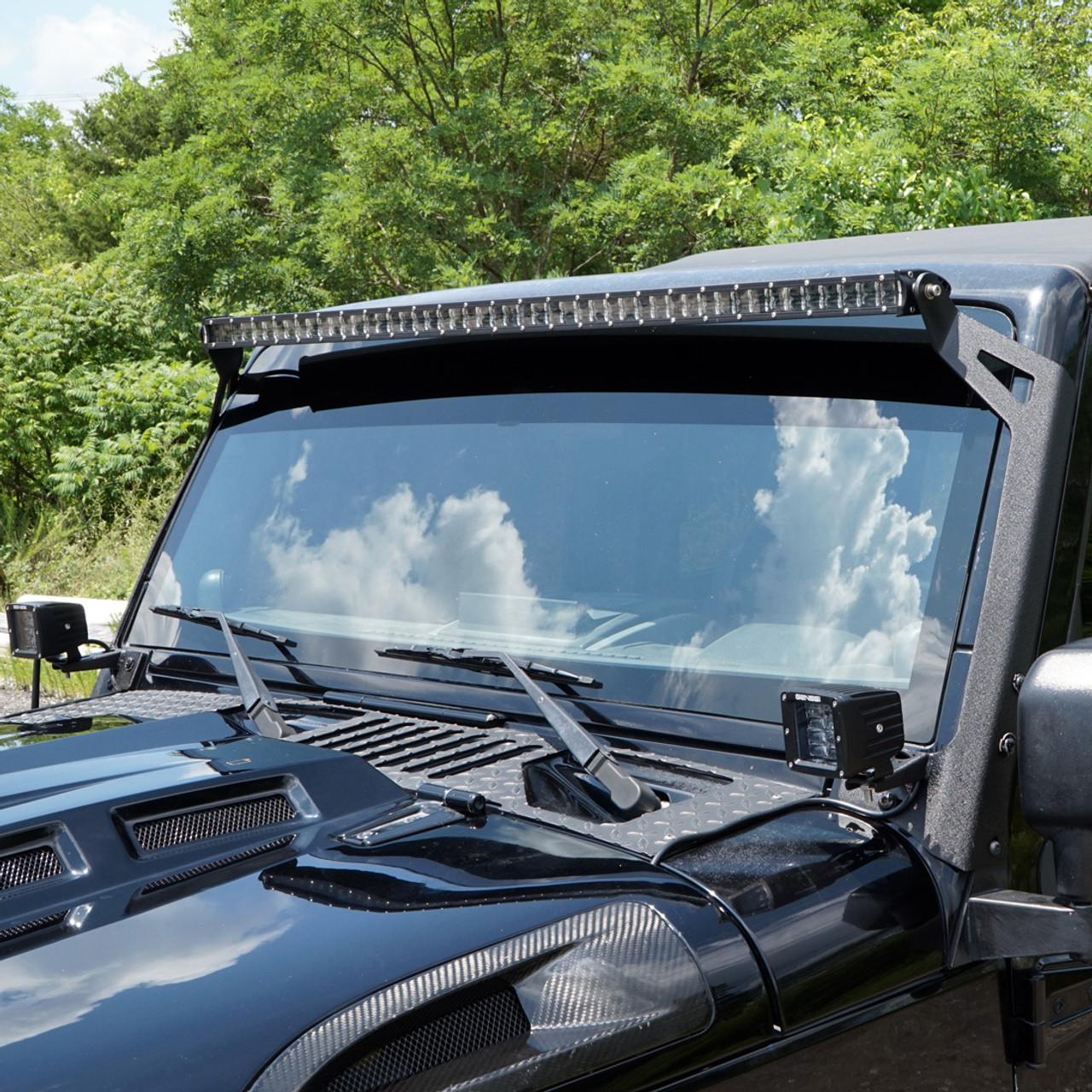 Led Light Bar Combo Kit With Aux Lights Bracket Wiring Harness Kit For Wrangler Jk 2007 2018