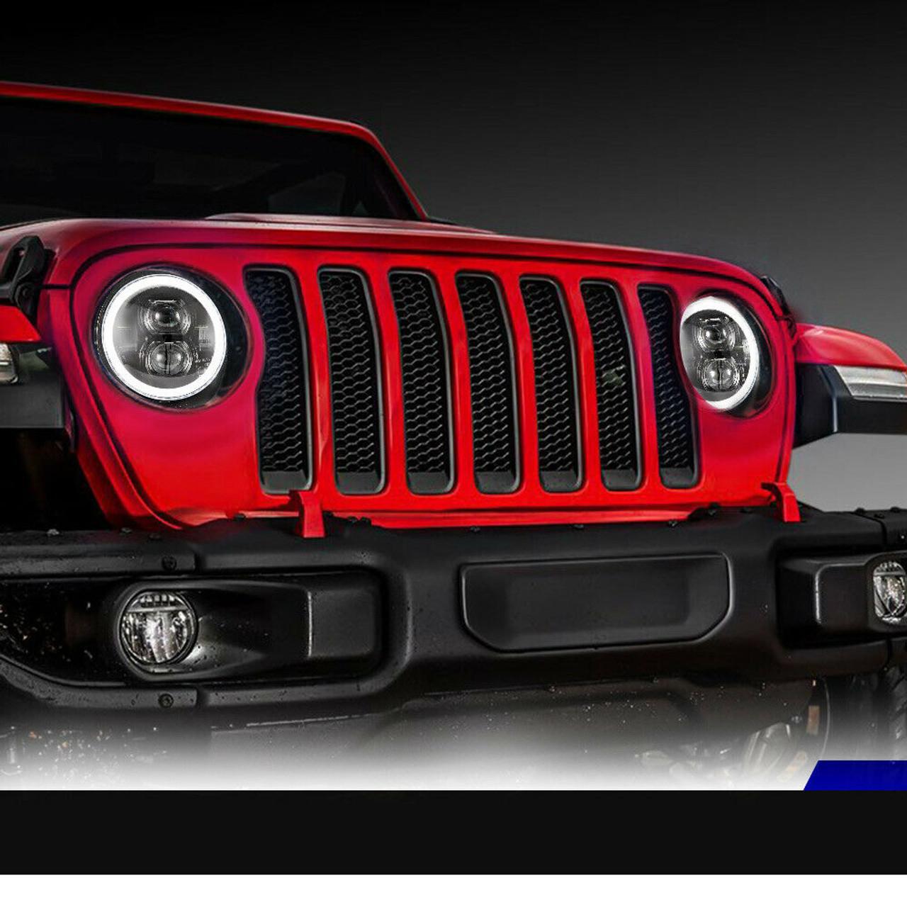 Jeep Halo Headlights >> Halo 9 Inch Led Headlights For Wrangler Jl Gladiator 2018