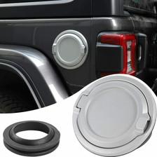 bestaoo Jeep JK Aluminium Gas Tank Cap with Lock Fuel Filler Door Cover for 2007-2017 Wrangler JK Jeep JK Gas Tank Cap Cover Star