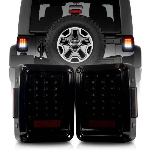 XPE Smoked LED Tail Lights for Wrangler JK 2007-2018