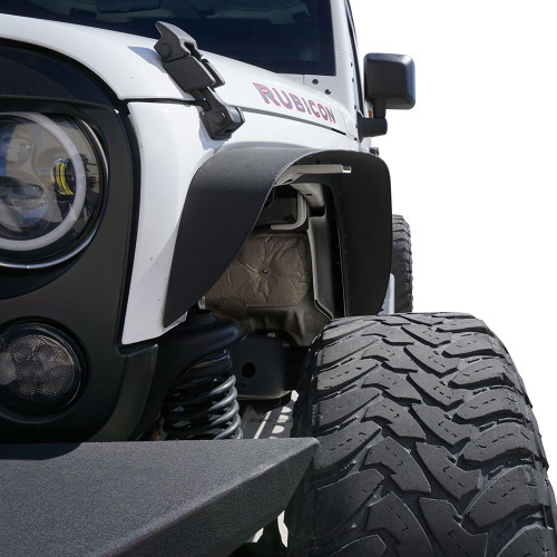 Steel Flat Top Metal Fenders for Wrangler JK 2007-2018