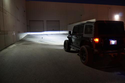 APOLLO Black Projector LED Headlights for Wrangler 1996-2018