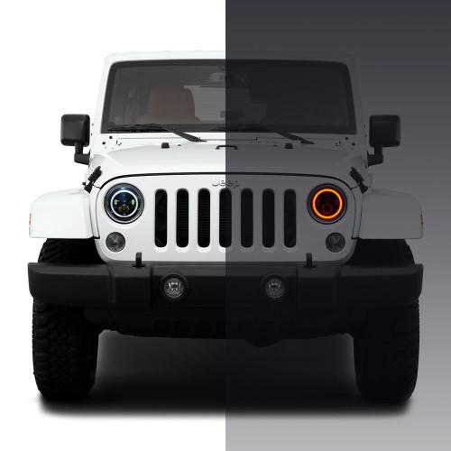 Jeep Halo Lights >> Halo Rgb Color Projector Led Headlights Fog Lights Kit For